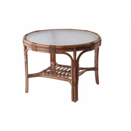 Webber table de salon 65 vintage en rotin